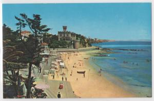 Pan Am Panam Airlines Issued Portugal Beach at Estoril Vintage Postcard