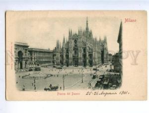 158557 Italy Milan MILANO Piazza del Duomo Cathedral Vintage