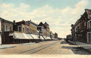 Greenfield IN Dentist Howard~Dr V.I. ?~Bank Bldg~Corner Turret~Trolley Trax 1910