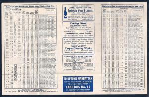 LACKAWANNA Railroad Timetable Newark NJ to Ampere NY c1952