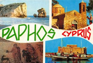 Cyprus Paphos multiviews postcard