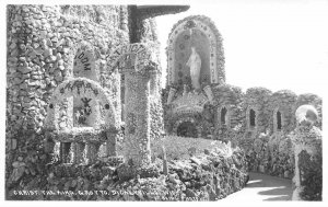 RPPC Christ the King, Grotto, Dickeyville, WI Religious c1930s Vintage Postcard