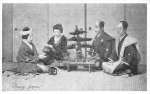 Japan Sunny Japan Native People at Table, Yes or No Series