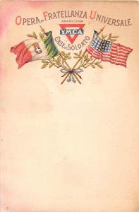 YMCA Italian US Opera di Fratellanza Universale Antique Postcard (J10075)