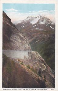 YUKON, Canada, 1900-1910´s; Sawtooth Range, Scene On White Pass & Yukon Route