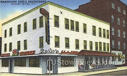 Paramount Pete's Restaurant Saratoga Springs NY Unused