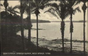 Benito River Spanish Guinea West Africa c1910 Postcard