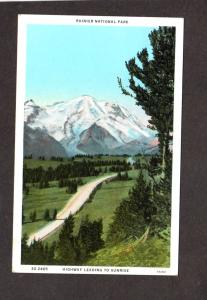 WA Mt Rainier National Park Mountain Sunrise Ridge Washington State Postcard