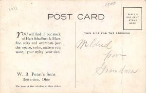 Bowerston Ohio~WB Penn's Sons~Hart Schaffner & Marx Adv~NOLA Prison~Artist~1911