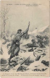 France Military Le mans Combat de Courceboeufs 01.30