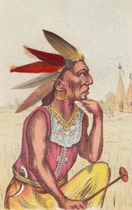 Native American Indian Portrait , 00-10s w/ feathers