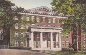 North Carolina Winston Salem Main Hall Salem College Handcolored Albertype