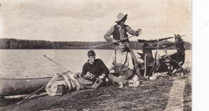 RP: Moose Hunters , SANGUISH LAKE , Canada , 1908 ; Trans-Canada Railway Crew