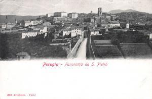 Panorama da S. Pietro, Perugia, Italy, Early Postcard, Unused