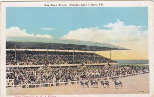 HIALEAH, near MIAMI, Florida; The Race Track, Horse Race, 10-20s