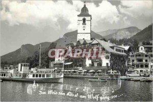 Modern Postcard Im Weis sen Ros Sl Am Wolf Gang see boat