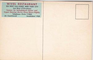 New York City Wivel Smorgasbord Restaurant On Broadway sk1781