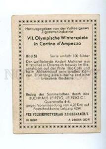 166983 VII Olympic ANDERL MOLTERER skier CIGARETTE card