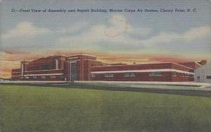 North Carolina Cherry Point Front View Of Assembly And Repair Building Marine...