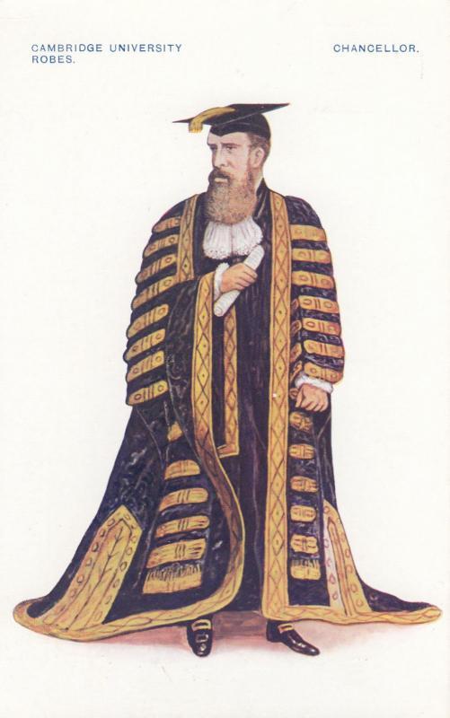Cambridge University , England, UK, 1900-10s ; Chancellor in robes