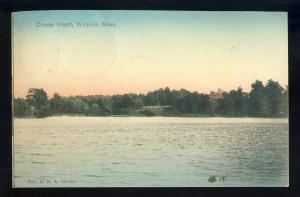Walpole, Massachusetts/MA/Mass Postcard, Crusoe Island, 1907!