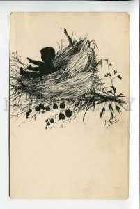 3178180 Elizabeth BEM silhouette RARE vintage lithography