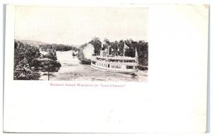 Island Wanderer, Steamer in the Lost Channel, Thousand Islands, NY Postcard