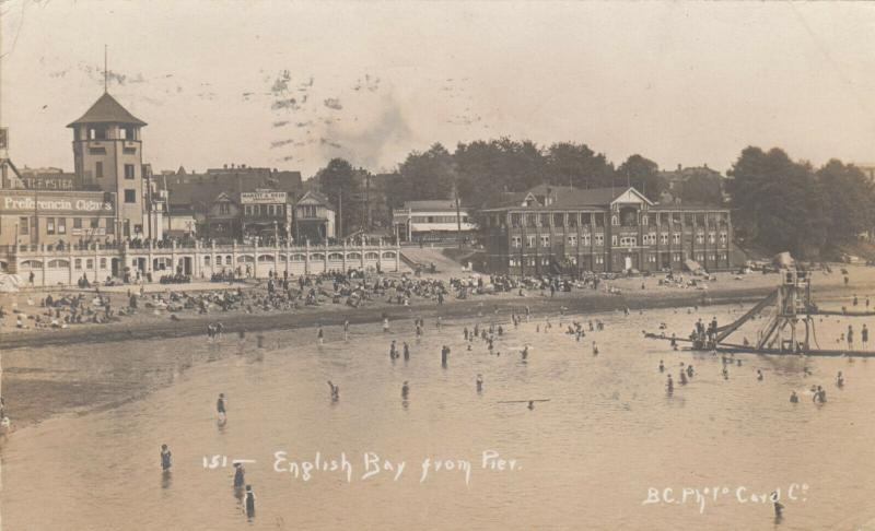 RP: VANCOUVER , B.C. , Canada , 1914 ; English Bay from Pier