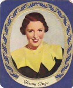 Aurelia German Vintage Cigarette Card Film Stars 1936 No 58 Fenny Fugo