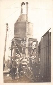 C40/ Occupational Worker RPPC Postcard c1910 Overalls Storage Tank Winch 37