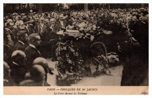 19792  Funeral  Events  of Jean Jaures 1914    casket in procession