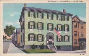 Maine Portland Birthplace Of Post Longfellow