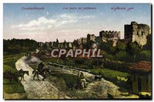 Old Postcard Turkey Constantinople The Walls Of Jedikoule