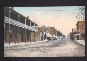 SILOAM SPRINGS ARKANSAS DOWNTOWN ST. JOHN STREET SCENE VINTAGE POSTCARD