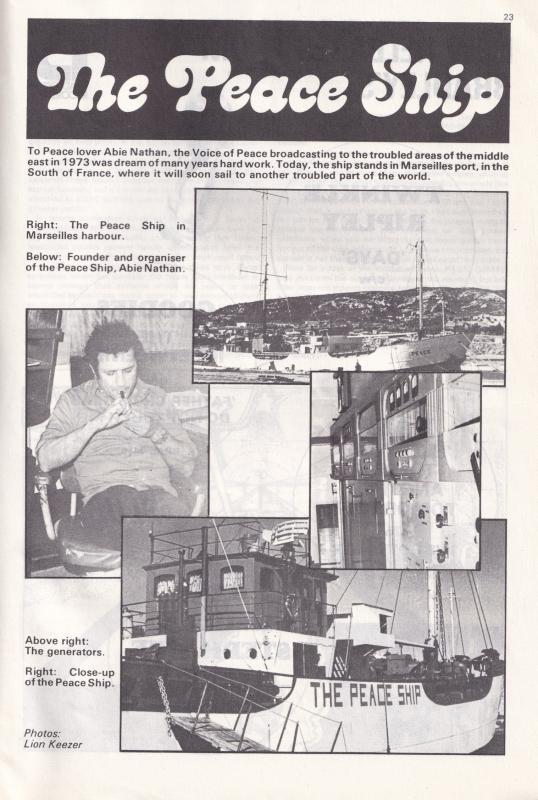 London Broadcasting Company Janet Street Porter Arab Ship 1974 Radio Book