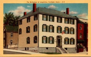 Maine Portland The Birthplace Of Longfellow Dexter Press