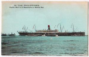 Philippines, Pacific Mall SS Manchuria in Manila Bay