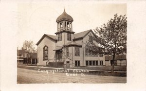 F47/ Lodi Ohio RPPC Postcard 1908 Medina County Congregational Church