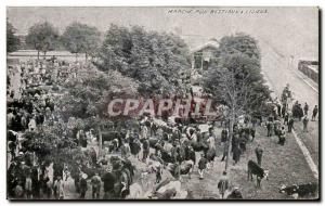Old Postcard Walk cattle in Lisieux