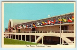 NEW ORLEANS INTERNATIONAL AIRPORT, Louisiana LA ~ ca 1950s-60s  Postcard