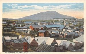 Chattanooga Tennessee~City Panorama c1864~Plank Houses~Downtown~1920s Postcard