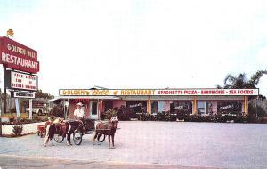 Cypress Gardens FL Golden Bell Drive-In Restaurant Ponies Postcard