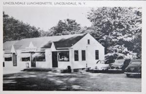 Lincolndale Luncheonette Lincondale NY New York Restaurant Vintage Postcard D33
