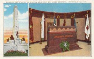SPRINGFIELD, IL, 30-40s; Interior/Exterior, Lincoln Monument, Oak Ridge Cemetery