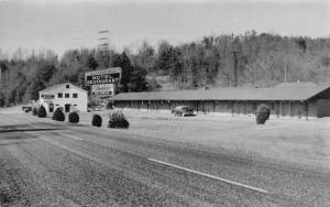 Roaring Gap NC~Marion's Inc~Motel & Restaurant~Borden's Ice Cream~1950s Cars~B&W