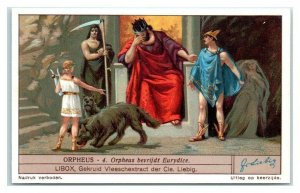 1931 Frees Eurydice from Hades, Orpheus, Liebig Belgian Trade Card *VT32A