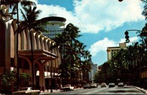 Hawaii Waikiki Kalakaua Avenue 1979