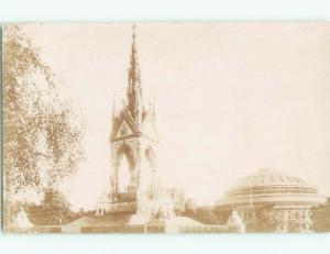 old rppc ALBERT MEMORIAL Kensington Gardens - London England UK i3368