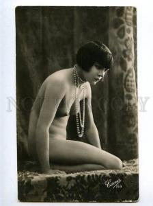 129031 NUDE Woman BELLE vintage Real PHOTO CORONA #153 PC