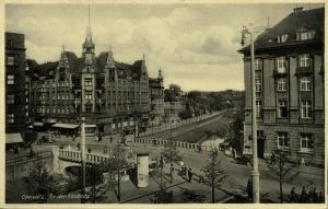 poland germany, GLIWICE GLEIWITZ, Silesia, An der Klodnitz (1920s) Postcard